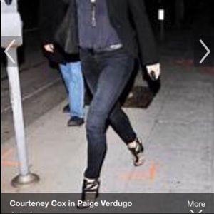 Paige verdugo skinny jeans subtle metallic wash 26
